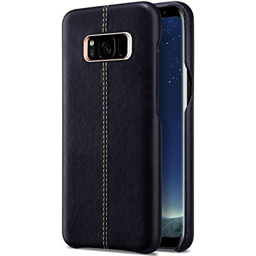 TGK® Premium Luxury Leather Lexza Series Double Stitch Shell with Metallic Logo Display Vorson Back Cover Case for Samsung Galaxy