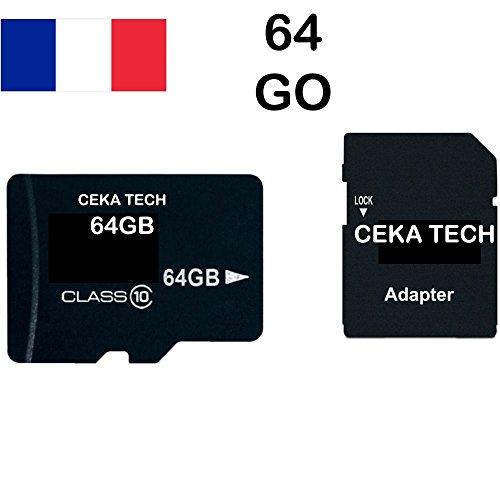 Tarjeta de Memoria Huawei Y7 2018, CEKA TECH® Micro-SD 64GB Clase 10 con Adaptador SD