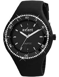 Axcent of Scandinavia Axcent of Scandinavia - Reloj analógico de cuarzo para mujer con correa de caucho, color negro