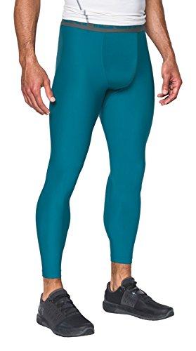 new styles 516e5 dfea8 Under Armour, Heatgear Armour 2.0 Legging, Leggings, Uomo, Blu (Bayou Blue