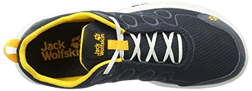 Jack Wolfskin Monterey Ride Low M, Chaussures Multisport Outdoor Homme Noir (Burly Yellow)