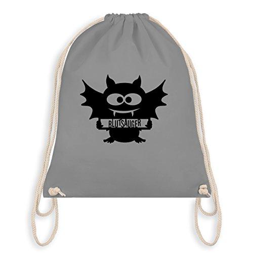 Halloween - Fledermaus - Turnbeutel I Gym Bag Hellgrau