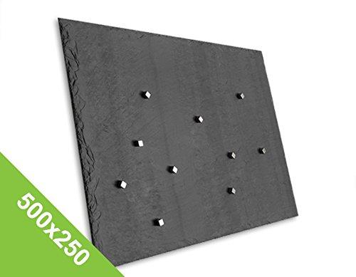 Preisvergleich Produktbild Edles Magnetboard, Magnetwand, Magnettafel - Schiefer - 500x250mm (S)