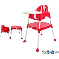 Bey Bee Portable 3-In-1 Convertible Anti Skid Baby High Chair - Red