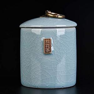 Boîte à Thé En Porcelaine,Coffre De Rangement Poterie De Poterie Coffret à Thé En Céramique Boîtes De Thé Service à Thé