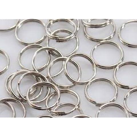 Doppia [2.0] argento 6.mm lattine rotonde doppio anello d'argento Niju