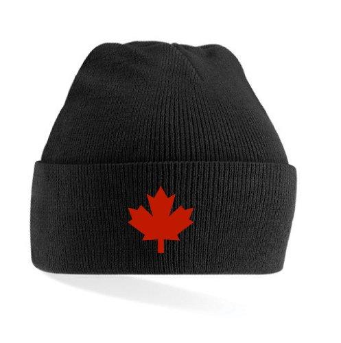 Canada / Kanada Strickmütze Teamwear weiß & schwarz|schwarz