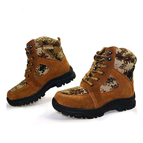 Qpyc Hommes Garder Chaud Anti-dérapant Sangle Avant Bottes De Neige Chaussures En Coton Alpinisme Sur Pied Bottes De Tourisme Tube Brun