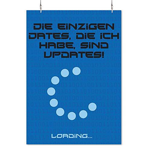 happy freaks poster 'updates' din a2 - nerd immagine moderna motivazione - poster senza cornice - immagini e decorazioni.