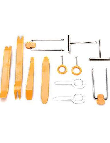 12 pezzi autoradio universale precipitare stereo plastica trim rimozione tool kit leva set