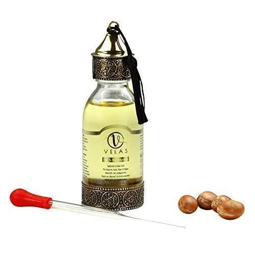 Arganöl Bio PREMIUM 125 ml kaltgepresst für Haare&Gesicht, Haaröl Shampoo Conditioner Haarmaske Serum&Anti-Aging Fair...