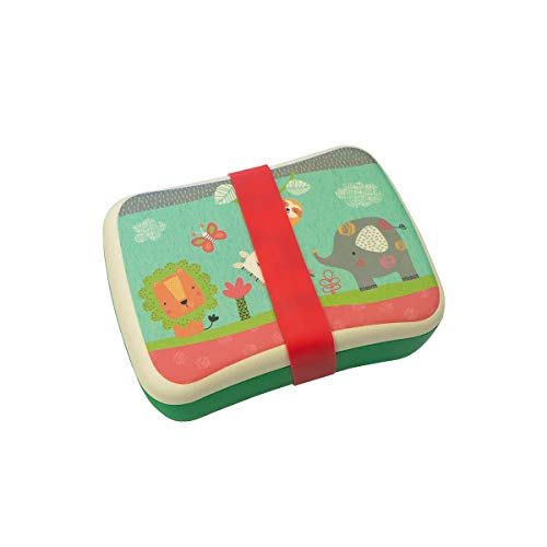 Fiambrera,Tupper,lonchera infantil,Fibra de Bambú,Conjunto Sandwichera y Tupper de bambú.ideal para infantil niños...