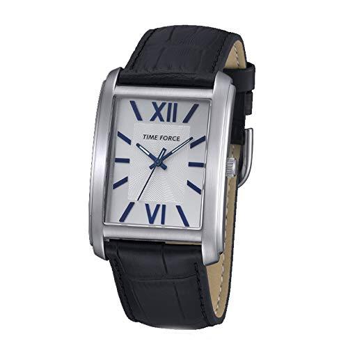 Time Force Reloj Analógico para Hombre de Cuarzo con Correa en Cuero TF4057M03