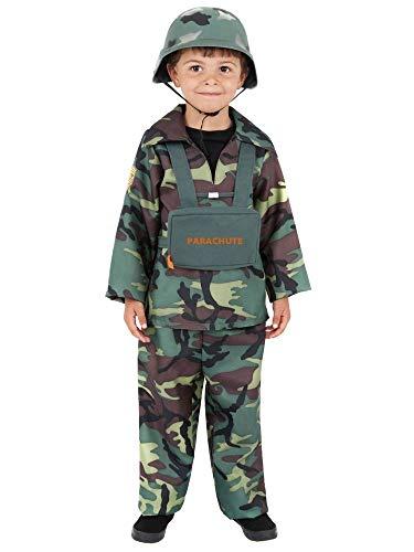 tüm Soldat Fallschirmspringer Kinder-Kostüm Camouflage Army Soldier Armee Militär Tarnfarbe, Größe:S - 4 bis 6 Jahre ()