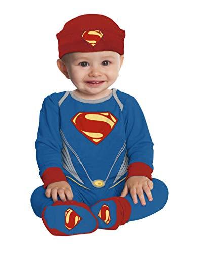 Horror-Shop Superman Strampelanzug für Babys One Size (Superman Strampelanzug Kostüm)