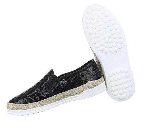 Halbschuhe Schwarz Schuhe Schuhe Slipper Damen Damen Halbschuhe 5040Rq