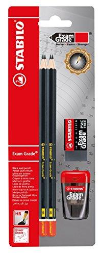 Stabilo exam grade set - 4 matite hb, temperino e gomma