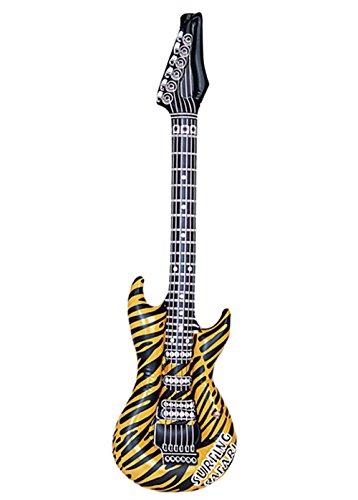 Tiger Kostüm Star Rock - 80er Jahre Rock Star Tiger Print aufblasbare Gitarre