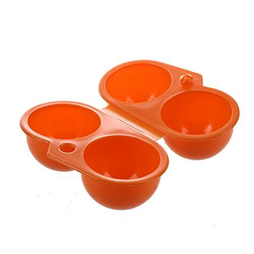 TOOGOO(R)Plastik Faltbarer Aufbewahrungsbox 4 Ei-Halter - Orange