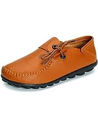 gracosy Sandalen Damen, Leder Zehentrenner Thong Flip Flops Hausschuhe Pantoletten Schuhe Rutschfeste Sommer Sandalen Wohnungen