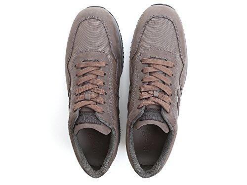 Hogan Sneakers Interactive Homme en Cuir et Tissu Marron - Code Modèle: HXM00N0U041E4B420F Marron