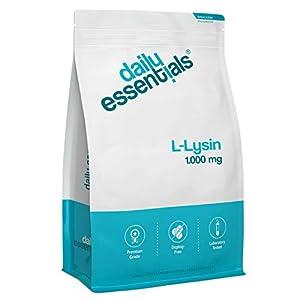 L-Lysin- 500 Tabletten – 1000mg je Tablette – Laborgeprüft, ohne Magnesiumstearat, hochdosiert, vegan und hergestellt in Deutschland