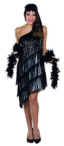 Kostüm Charleston Kleider - Rubie's Rubies Kostüm Charleston Kleid schwarz/weiß Damen Fasching/Karneval - 36