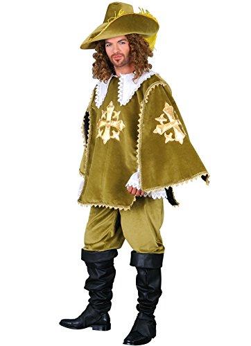 Für Kostüm Erwachsene 3 Musketiere - Kostüm Musketier des Königs Herren Erwachsene, Grün
