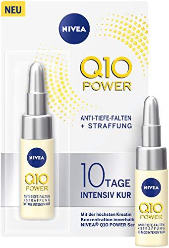 NIVEA Q10 Power Anti Tiefe Falten + Straffung 10 Tage Intensiv Kur für jünger aussehende Haut, pflegende Anti-Falten Kur, 3er Pack(3 x 6.5 ml)