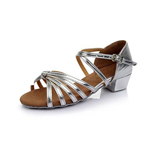 dike-brand-womens-kids-dance-shoes-latin-ballroom-salsa-sandals-satin-knot-buckle-low-heel-size-38-2