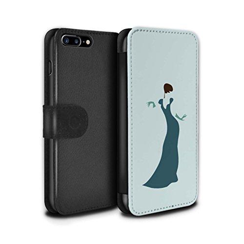 STUFF4 PU-Leder Hülle/Case/Tasche/Cover für Apple iPhone 7 Plus / Ast/Muster Muster / Teal Mode Kollektion Frau/Kleid/Schick