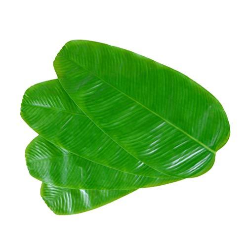tt Tischset 10 stücke Künstliche Tropical Green Leaf Tischset Hawaiian Party Decor Mahlzeit Matte für Tasse Schüssel Lebensmittel ()