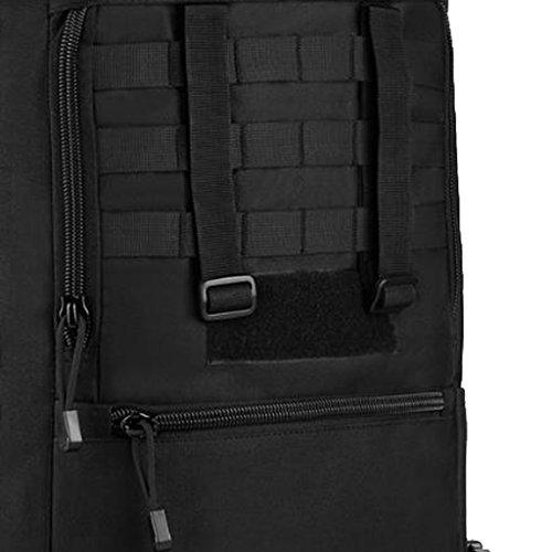Gazechimp 50L Molle Rucksack Taktischer Unisex Erwachsene Reiserucksack Reisetasche Wanderrucksack Trekkingrucksack Outdoor Sporttasche Schwarz