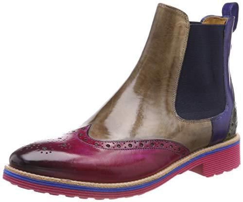 Melvin & Hamilton Damen Amelie 5 Chelsea Boots, Mehrfarbig (Crust/DK Pink (1) / Marble (2) / Saphir (3) / Ultra Green (4) / Ela Navy/Rook D Navy + Eva Blue), 40 EU