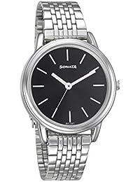 Sonata Analog Black Dial Women's Watch-8170SM03