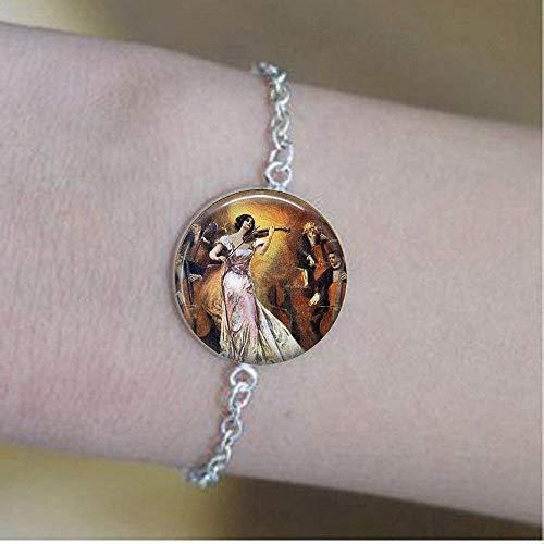 (Der Violinist–Music Jewelry–Violine–Geige Anhänger–Geschenk für Musiker Armbänder)