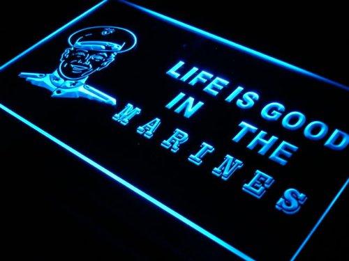 Insegna al neon j381-b Marines Life is Good US Bar Beer Neon Light Sign