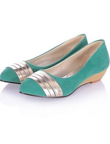 ShangYi Scarpe Donna - Ballerine - Ufficio e lavoro / Formale / Casual - Zeppe / Comoda - Zeppa - Felpato - Nero / Blu / Verde Blue