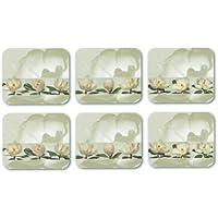 Jason D2371 Magnolias Coasters, Set of 6