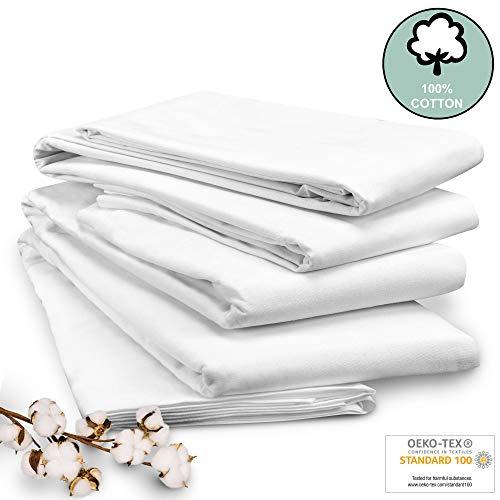 Beautissu Sábana Blanca Nilo 100% algodón 150x260