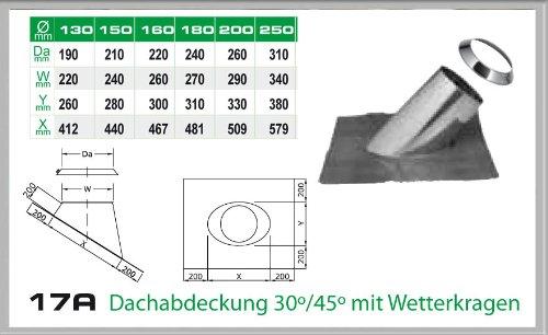 Dachdurchfuehrung 30-45° für Schornsteinsets 150mm