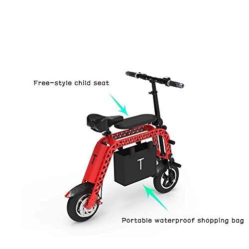AK Scooter elettrici di moda, skateboard elettrico pieghevole genitore-figlio portatile, 10 pollici fino a 33Km / H e 40Km di resistenza adatto per viaggi e attività ricreative,Rosso