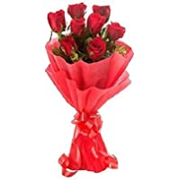 Floral Fantasy Gift of Fresh Flower Bouquet (Bunch Of 8 Red Roses)