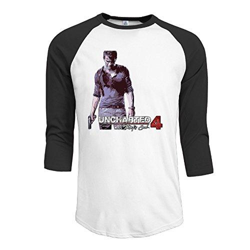 xj-cool-un-ladron-de-uncharted-final-hombres-de-la-comodidad-raglan-t-shirt-negro