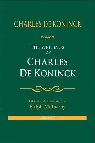 the-writings-of-charles-de-koninck-v-2-by-charles-de-koninck-2009-07-30