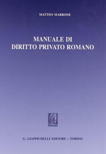 Manuale di diritto privato romano Manuale di diritto privato romano 41tYVwHMOoL