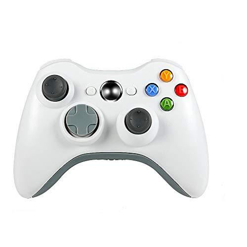 JAMSWALL Xbox 360 Controller per Xbox 360 Slim Wireless Controller di Gioco per PC Windows di Microsoft Xbox 360 Wireless Controller 7 XP Whit Joypad per Windows Bluetooth (Bianca)