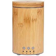 Diffusore di Aromi 150ml bambù Ultrasuoni Umidificatore oli essenziali Vaporizzatore Purificatore aria per SPA, Yoga, Camera da Letto, Sala Conferenze, Baby Room.