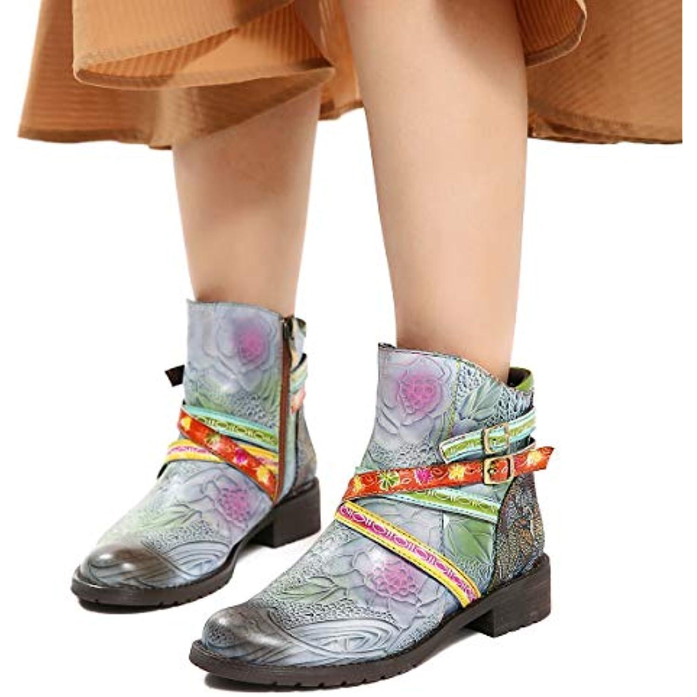 Gracosy Bottines Cuir Plates Femme, Chaussures de de de Ville Hiver Bottes à Talons Plats Carres Moyens Semelle Confortable... - B07H5PXN4N - f9d1e9