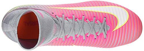 Nike Mercurial Veloce Iii Df Fg, Scarpe da Calcio Donna Rosa (Hyper Pink/white-wolf Grey-tart-volt)